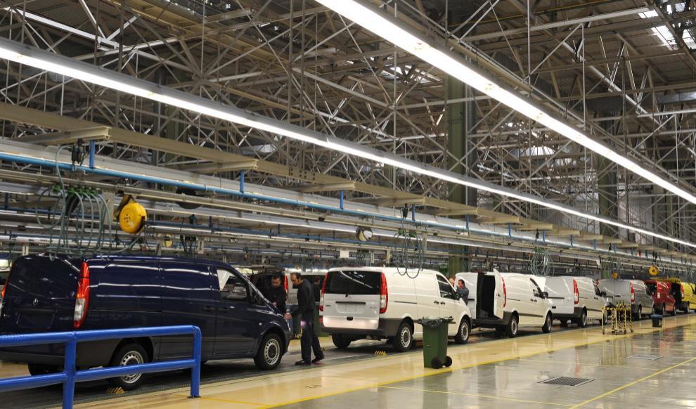 La planta de Mercedes de Vitoria frena los días de parón
