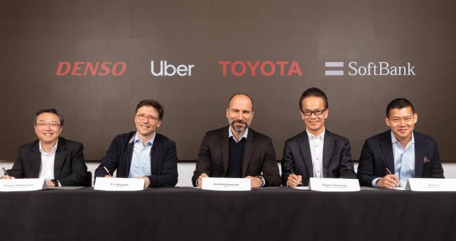 Uber recibe una inyección de 890 millones de Toyota, Denso y SoftBank